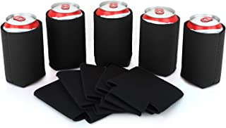 Nuovoware Can Coolers Sleeves Neoprene, [10-Pack] Premium Collapsible Insulated Drink Coolies for Cans Bottles Beer Soft Drink, Perfect for BBQ, Parties, DIY Projects and More, 10 Black