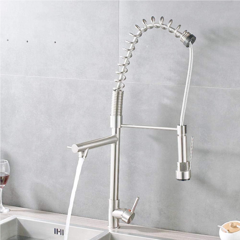 Küchenmischer Wasserhahn Nickel gebürstet Quellwasserhhne für Küche Einhandloch