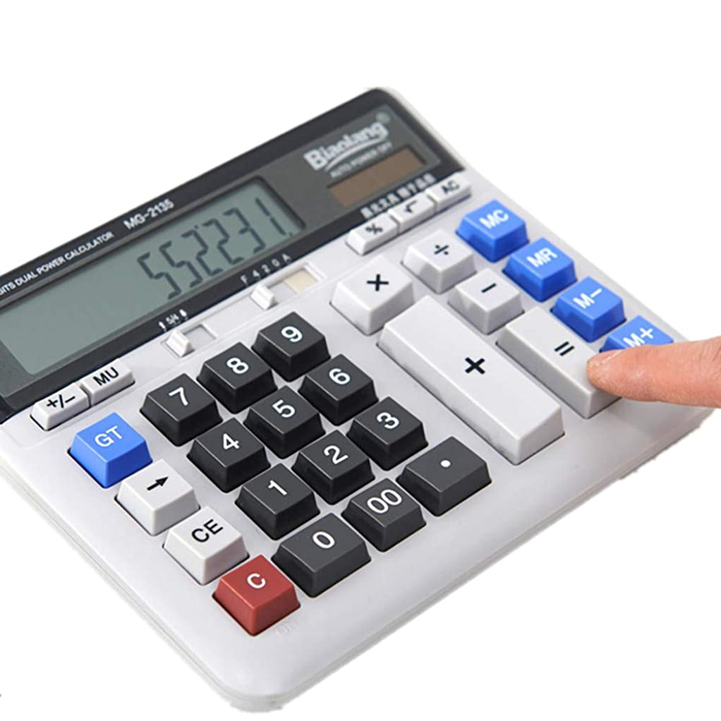 ガラスアプライアンス教育電子式電卓 ビジネスオフィス電卓大型コンピュータキーボードデスクトップデスクトップコンピュータ コンパクトポータブル