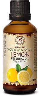 Aceite Esencial de Limón 50ml - Citrus Limon Sin Diluir - Italia - 100% Puro y Natural - para Aliviar la Tensión - Fraganc...
