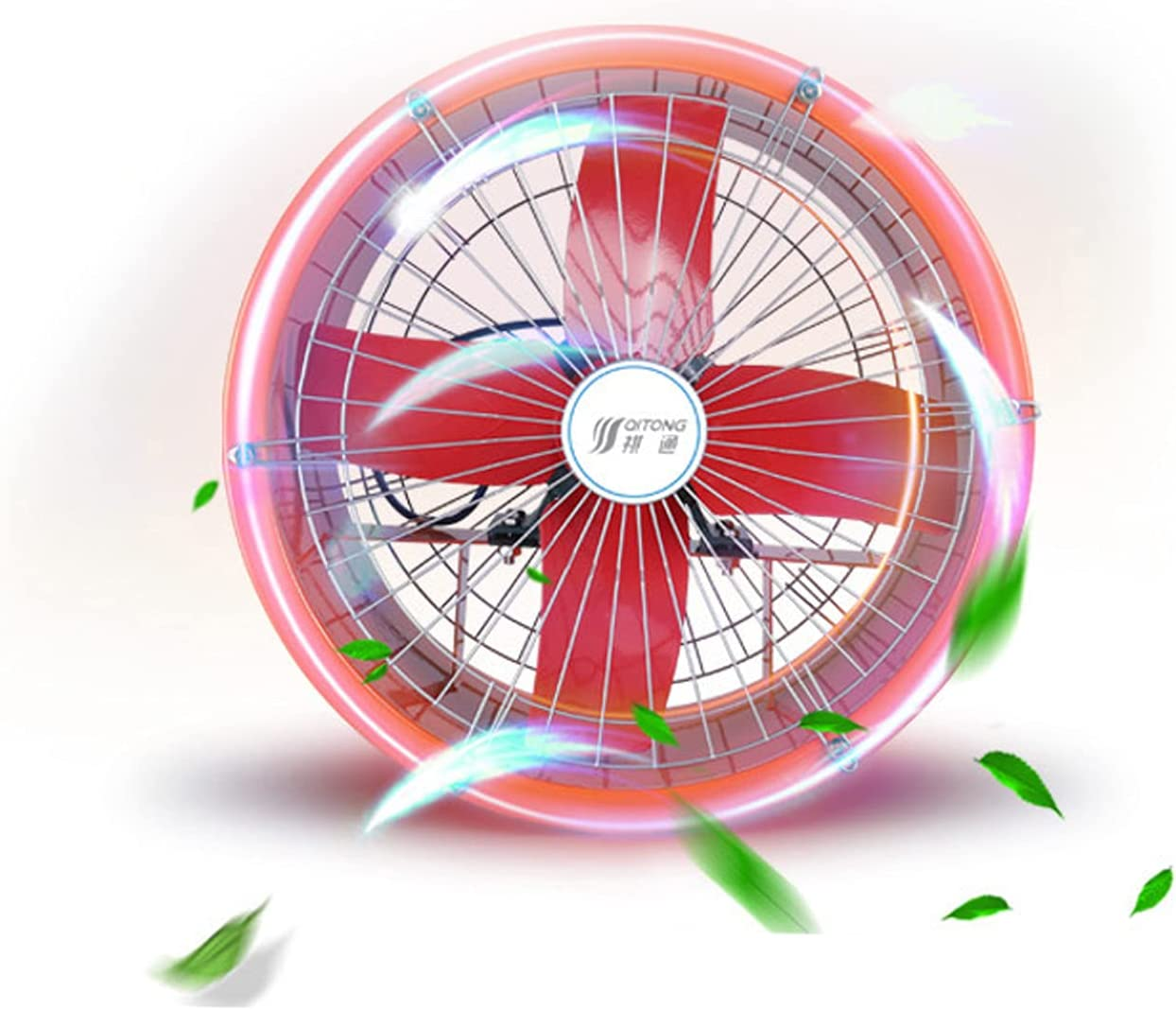 EWYI 24'' Ventilador De Ventilación Industrial, Extractor Doméstico, Humos De Cocina, Extractor Reproducción Alta Potencia, Ventilador Flujo Axial para Fábricas, Salas Pr