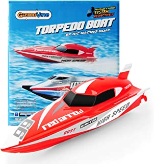 GizmoVine Mini Remote Control Boat for Kids Age 5-9 , Fast Rc Boats for Pools Racing Submarine Water Toys Adults Kids Gif...