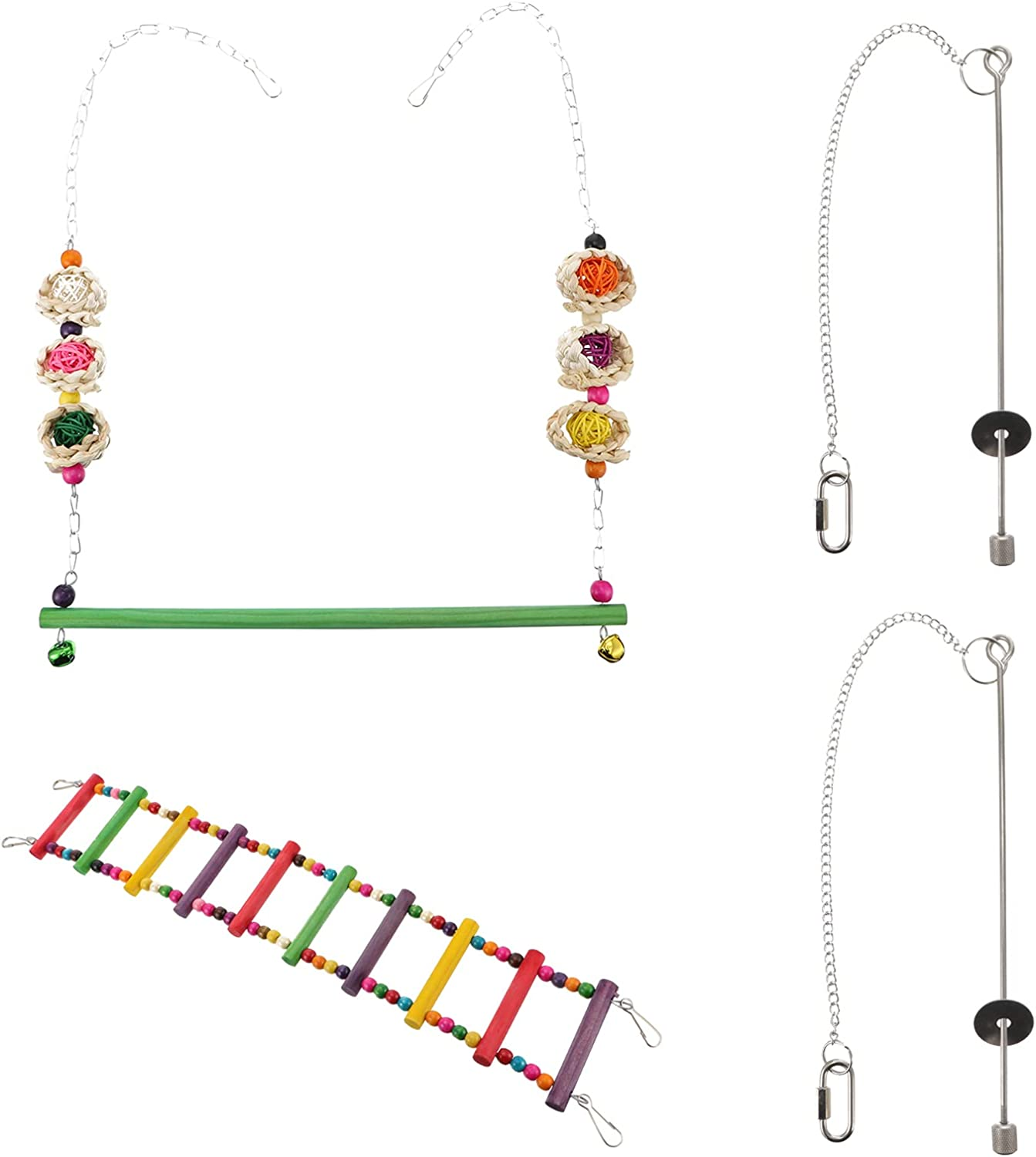 Bird Ranking TOP15 Max 89% OFF Food- 4pcs Cage Accessories Chicke Ladder Parrot Swing