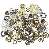 Surtido antiguo Steampunk engranajes encantos reloj reloj rueda engranaje para hacer a mano, colores mezclados (200 gramos)