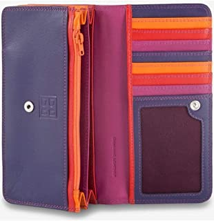 Multi-colour woman's soft leather bag purse by DUDU - Colorful Collection ~ Canarie - Fuxia