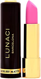 LUNACI Barcelona - Barra de Labios Permanente   Pintalabios Permanente Mate Vegano - Color Rosa #Almond MV-06