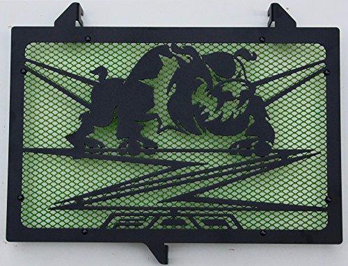 Protección radiador negro mate Z800 design «Bulldog»