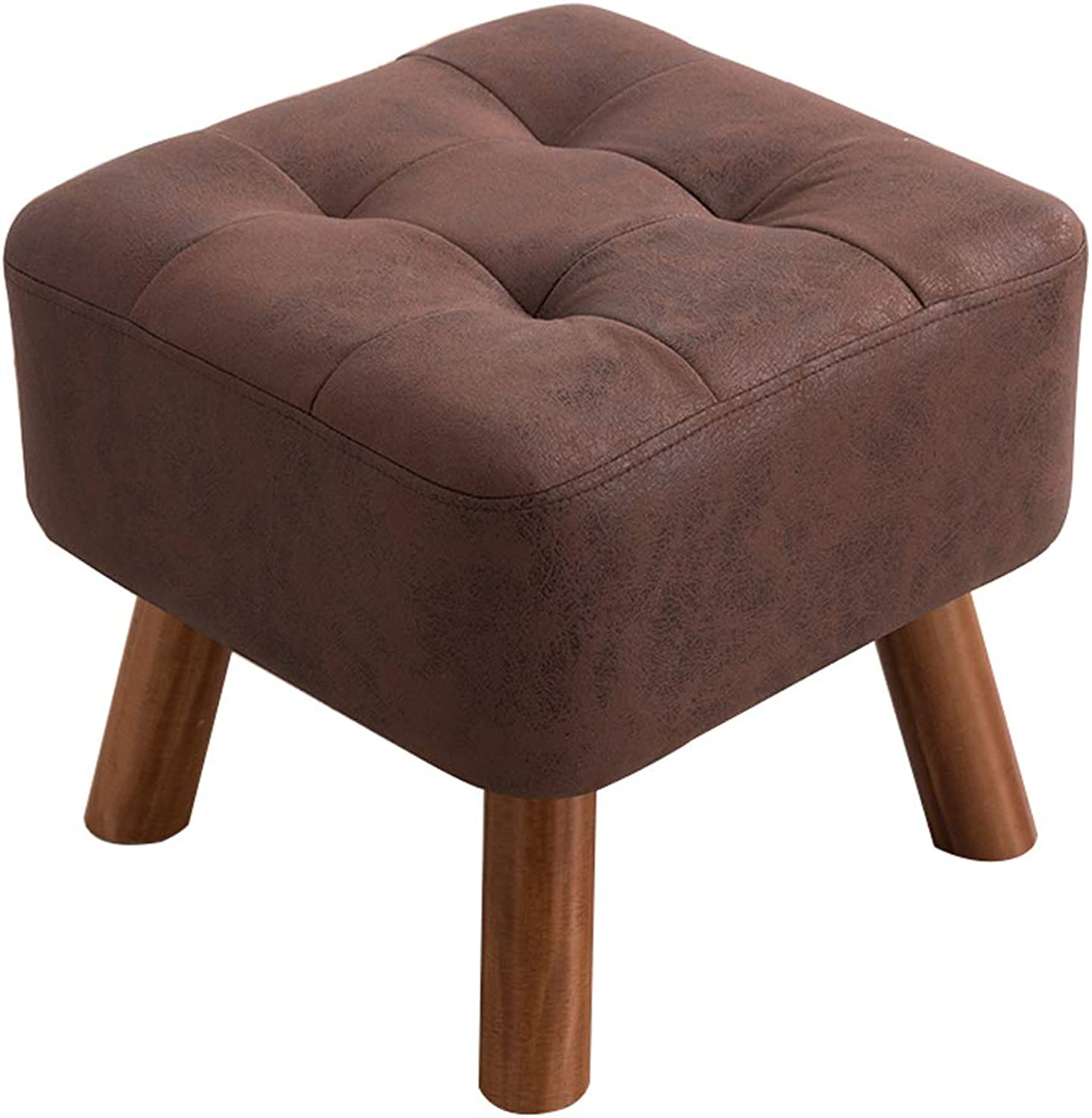 Change shoes Stool Solid Wood Stool Stool Fashion Creative Sofa Stool Coffee Table wear shoes Sitting pier Dressing Footstool shoes Bench (color   Dark Brown)