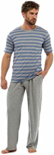 Mens T-Shirt Striped Top & Long Trousers Pyjama Lounge Wear