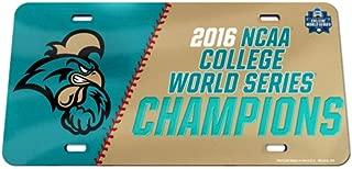 WinCraft Coastal Carolina Chanticleers 2016 Omaha Baseball CWS Champions License Plate