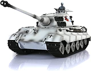 Remote Control RC Tank, HengLong 1/16 Scale German King Tiger RC Tank RTR Plastic Version Winter Snow 3888A