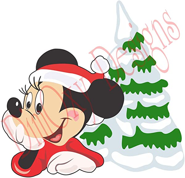 One Stop Decals Disney Mickey And Christmas Tree Christmas And Holidays Static Cling Decoration For Windows Mirrors Or Polished Metal Surfaces 8 Longest Side