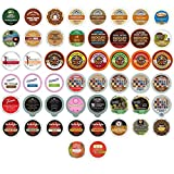 Coffee, Tea, Cider,Cappuccino, and Hot Chocolate Single Serve Cups For Keurig K cup Brewers, Perfect Sampler Pack, includes Hot Cocoa from Grove Square and Crazy Cups, 50 Count