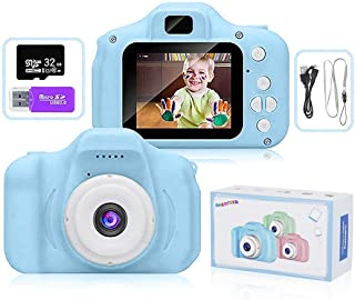 AMERTEER Kids Toy Digital Camera with [ 32 GB Memory Card and Card Reader ] Gifts for Child Boys Girls,Mini Rechargeable C...