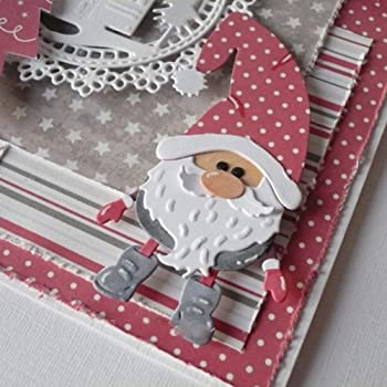 Metal Craft Card Making Cutting Die Father Christmas Santa /& Reindeer Sleigh