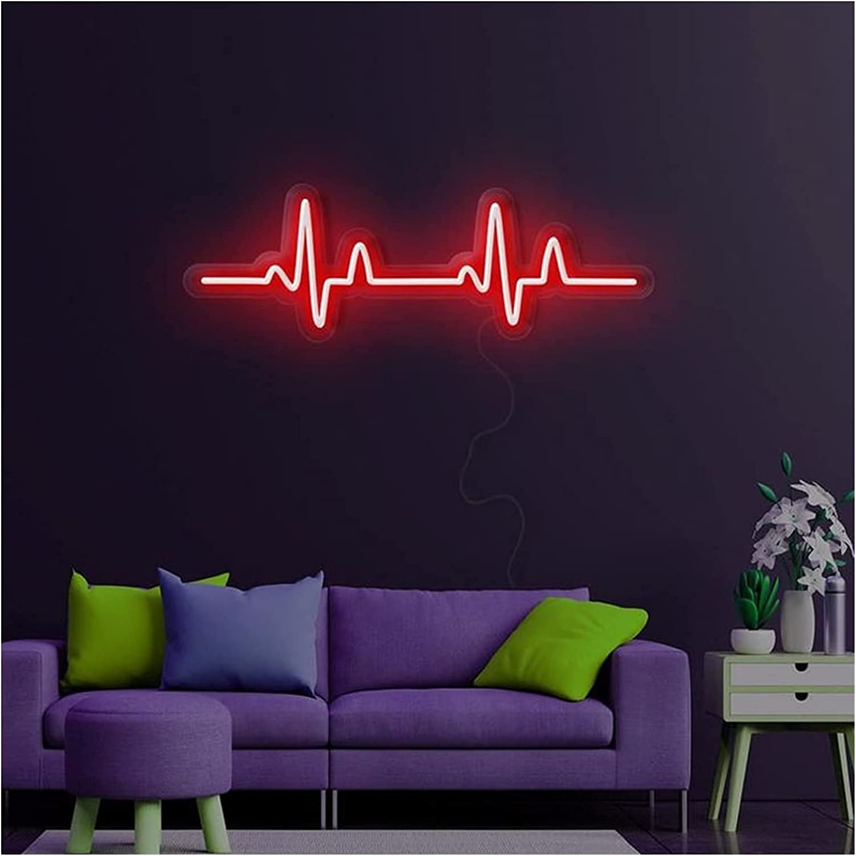 Custom SEAL limited product Heartbeat Heart Beating Neon Jacksonville Mall Sign Acrylic Vi 12V Handmade