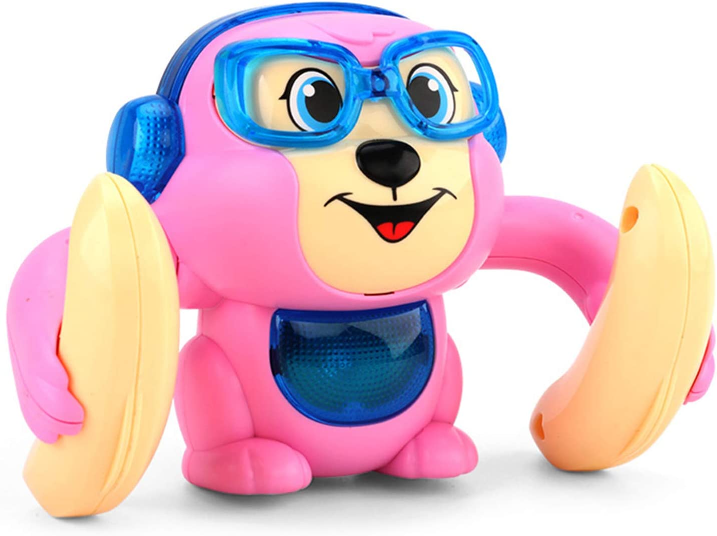 Smaani Cute Monkey Animal Doll Musical Tumbling Toy Children Electric Toys 360 Degree Flip Touching Voice Control