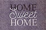 oKu-Tex Zerbino, Tappeto Ingresso, Sweet Home, Interno, Antiscivolo, Lavabile, Grigio Melange, Poliammide, 40 x 60 cm