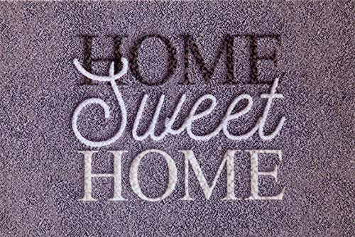 oKu-Tex Felpudo, Poliamida, Home Sweet Home, 50 x 80 cm