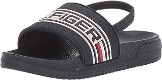 Tommy Hilfiger Baby Geo Logo Slide Athletic Sandal, Navy, 9 Medium US Toddler