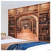 図書館棚タペストリー、3D印刷アートタペストリー寝室&ドームルーム壁装飾 - カーテン - 寝具 - ビーチスイープ家の装飾 B- 150*230cm/59*91in
