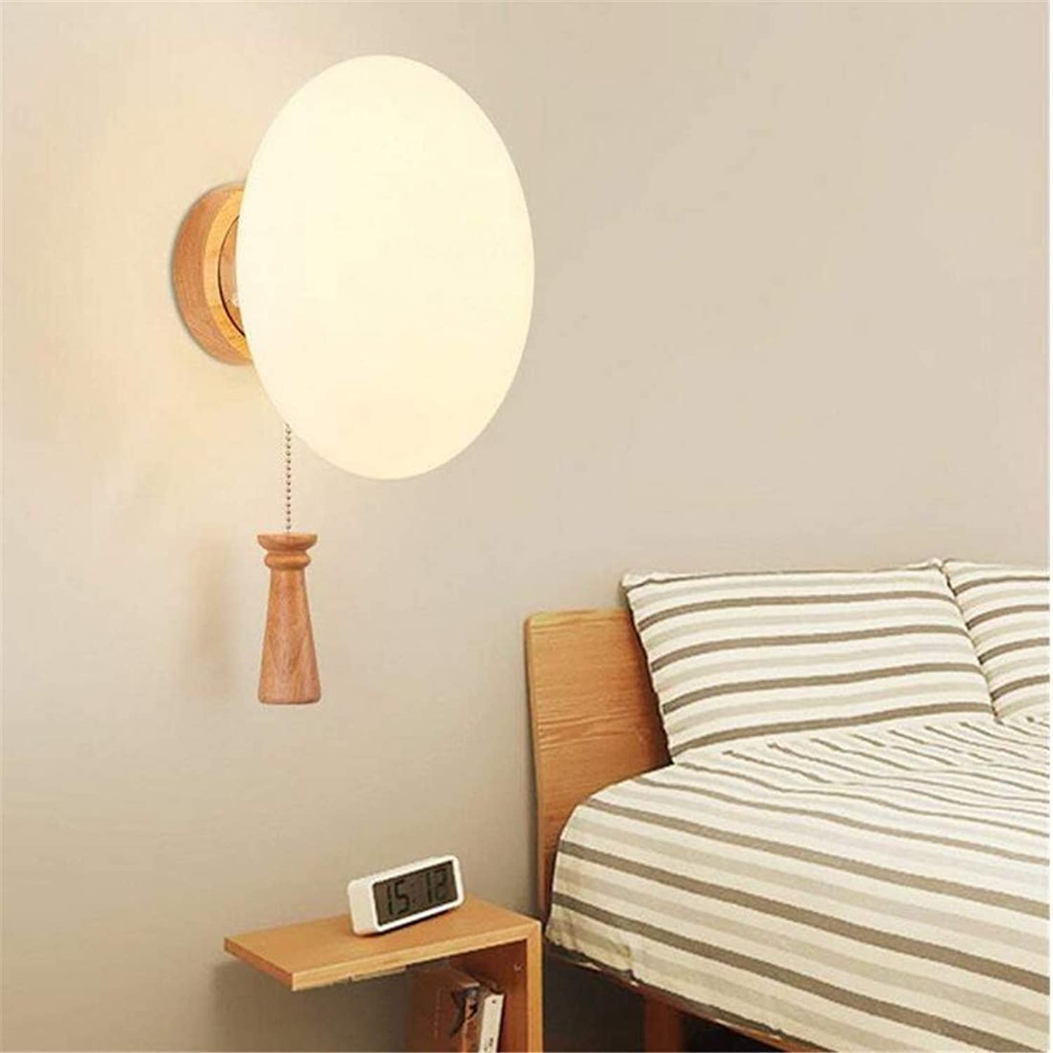 Modern Led Chandelier Decorated Wooden Led Wall Lamp Living Room Bedroom Corridor Staircase
