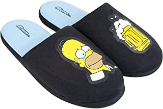 The Simpsons Homer Simpson Mmm. Black Soft Slip-on Mule Slippers for Men