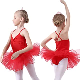 4ca64d9eaae4 Zizimo Tutu Tulle Bambina Danza Classico Abito per Balletto Ginnnastica  Vestito Principessa per Spettacolo di Feste