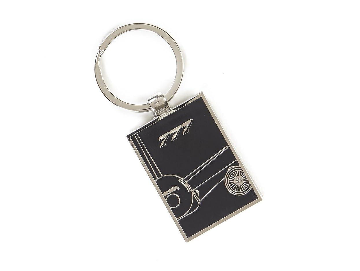 工場略奪鷲(ボーイング) 【Boeing 777 Midnight Silver】 ボーイング キーホルダー