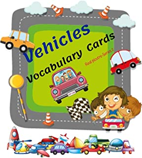 The Vocabulary Flashcards of Vehicles: Learning & Skill development for Kid and Preschool, it enhances concentration and imagination with real picture more than 40 pics. (Series 2)