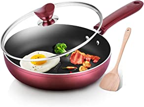 YUMEIGE Elektrische bakvorm Pan, non-stick koekenpan, huishoudelijke omelet steak pannenkoek pan, transparant deksel, anti...