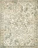 Unique Loom 3138795 Vintage Distressed Traditional Area Rug, 8 x 10 Feet, Beige/Green