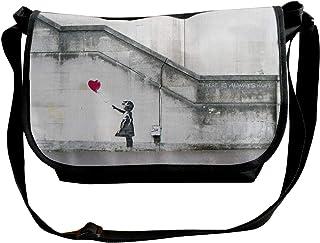 Reginald Nixon Banksy Grafitti Girl With Red Balloon ショルダーバッグ メッセンジャーバッグ 斜めがけ 軽量 カジュアル 旅行 アウトドア スポーツ 通学 通勤
