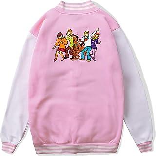 VJJ AIDEAR Scooby Doo and Friends Baseball Uniform Jacket Sport Coat Girl Long Sleeve Hoodie Pullover Black