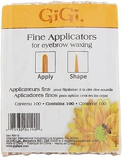 GiGi Fine Applicators for Eyebrow Waxing 100 Applicators