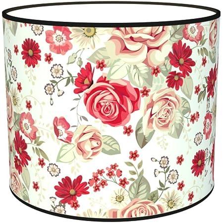 Abat-jours 7111305591131 Imprimé Rachel Lampadaire, Tissus/PVC, Multicolore