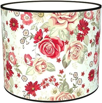 Abat-jours 7111306538104 Imprimé Rachel Lampe de Chevet, Tissus/PVC, Multicolore