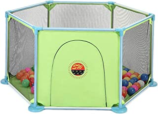 Hxmwl Playpens Children s Fence Baby Play Fence Indoor Breathable Net Indoor Children s Play Fence for Baby Toddler Newborn Baby Safety Crawl