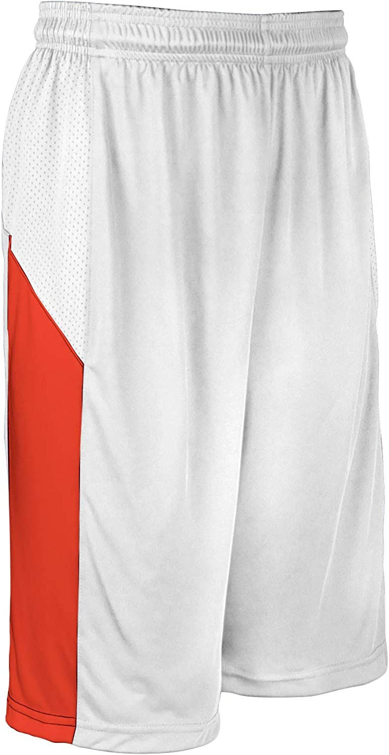 CHAMPRO Fort Worth Mall Charge Polyester Basketball 67% OFF of fixed price Adult White Short X-Large