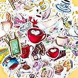 LZWNB Kreative niedliche selbstgemachte Gourmet-Getränkeaufkleber Kaffee Scrapbooking Cartoon...