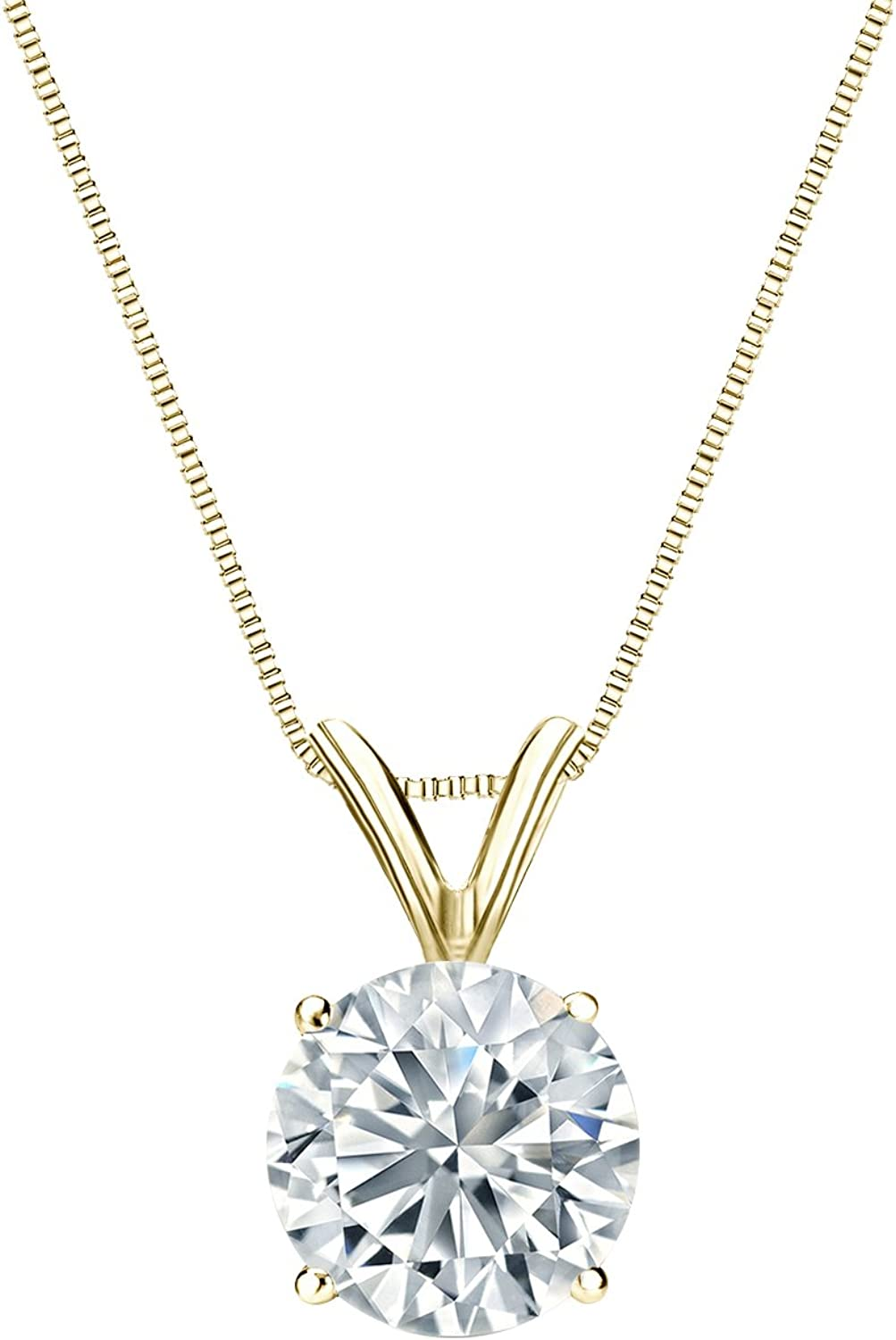 5 ☆ very popular Diamond Wish 14k Yellow Gold Nec Pendant Round Solitaire Sales of SALE items from new works
