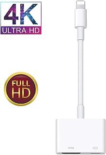 2020令和最新認証版 iPhone Lightning HDMI 変換ケーブル 新版バージョ Lightning HDMI ケーブル ライトニング HDMI 変換ケーブル 設定不要 HDMI アダプタ Lightning - Digital AVアダプタ 4K 高画質 HDMI出力ポート 大画面 簡単接続 音声同期出力 高解像度 iPhone iPad ipod テレビに出力iPhoneX/XR/XS/XS Max/8/8plus/7/7plus iOS12/13