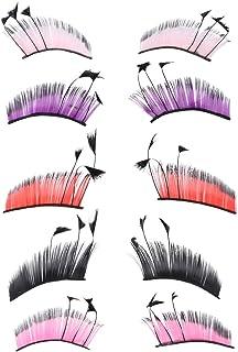 PIXNOR 5 Stks 3D Kleurrijke Valse Wimpers Lange Nep Wimpers Extension Wimpers Individuele Veer Wimper Extension Voor Vrouwen
