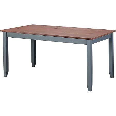 Inter Link FSC Table à Manger Style Maison de Campagne en pin Massif Gris sépia Marron 160 x 90 cm Salle à Manger 160 x 90 x 75 cm