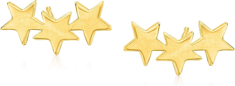 Ross-Simons 14kt security Philadelphia Mall Yellow Gold Star Climbers Ear