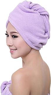 b8d847a2ef Womens Microfiber Bath Towel Hair Dry Hat Cap Quick Drying Muranba