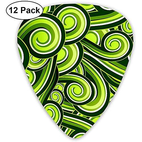 Gitaar Plectrum, groen nummer zes bloemen kinderen voor bruiloft decoratie 12-pack