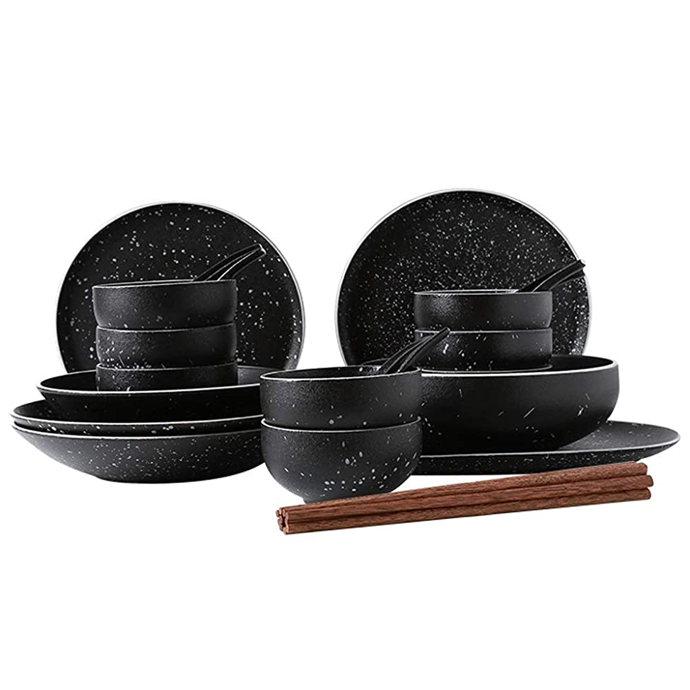 BLWX - Japanese combination dish plate set combination eating home creative star bowl-5 combination selection bowl (Size : 31 pieces)