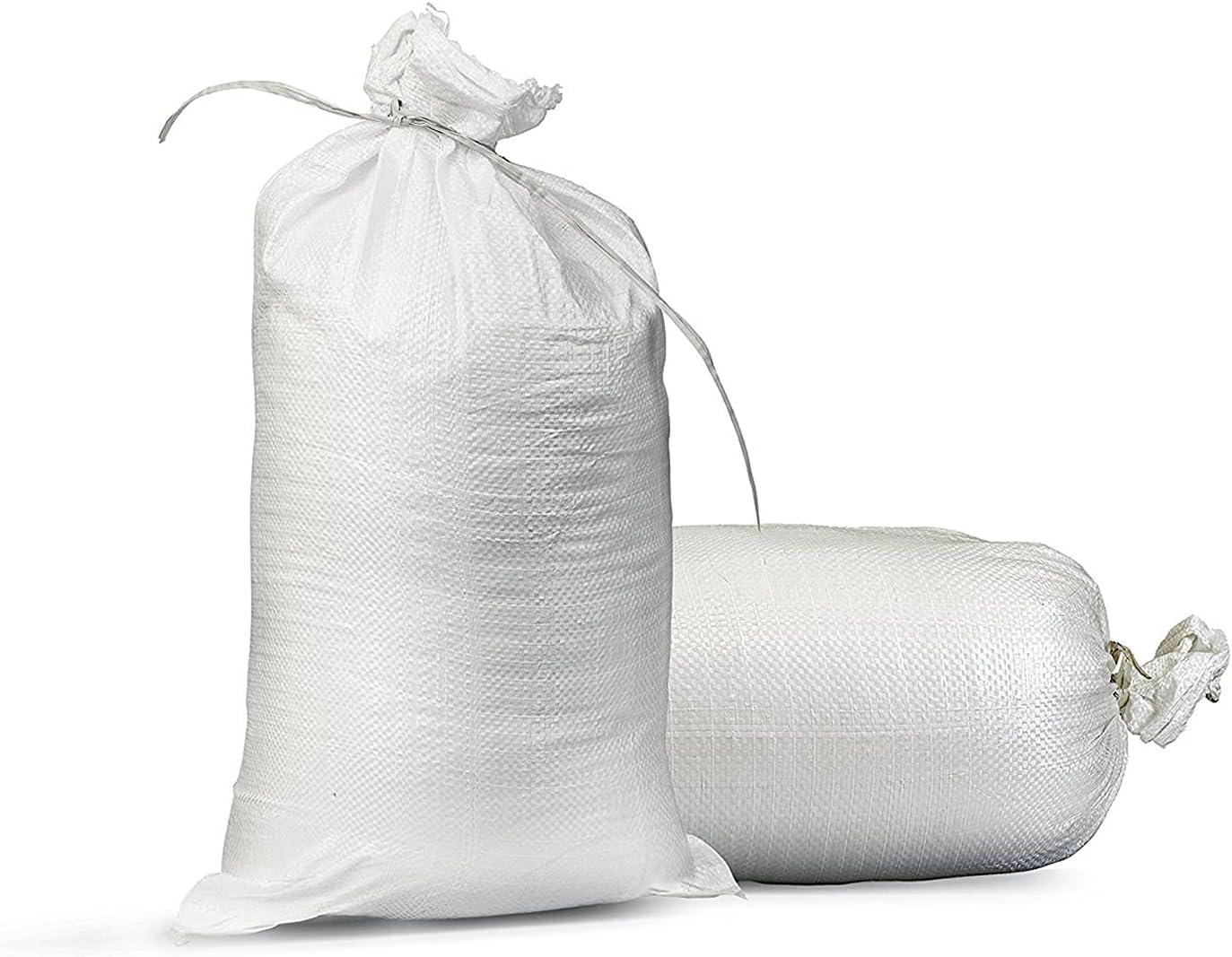 Empty White Sandbags with Ties (Bundle of 10) 14