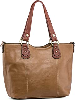 Handbags for Women Tote Shoulder Bags PU Leather Top Handle Purse Medium Size